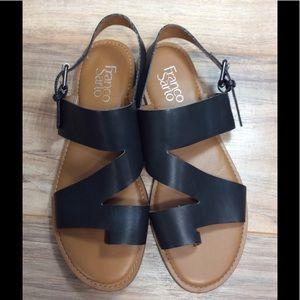 Franco Sarto Black Sandals, sz 8